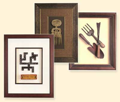 Why not frame those items that have special meaning.