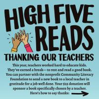 Neighborhood Reads Partners with Community Literacy Foundation to Support Local Teachers