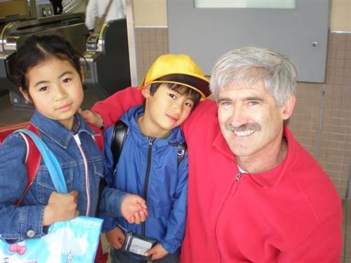 "In Tokyo with ""grandkids"""