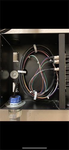 12 Strand, 62.5 micron Multimode Fiber in a patch panel