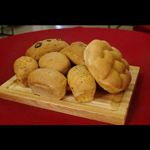 Sourdough bread is available in several different flavors! We make loaves, buns, and rolls!