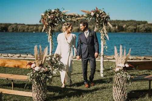 Ceremony on Lake Charlevoix, Photo Credit: RosePhoto