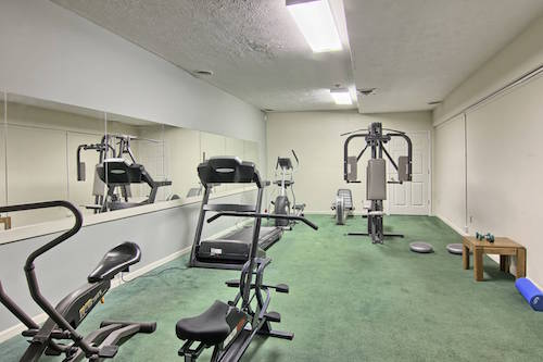 24-hour fitness room.