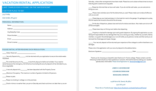 Our Vacation Rental Application