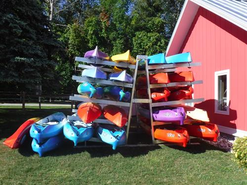We have all sorts of kayaks for rent