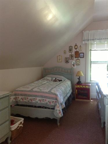 2 twin beds in back bedroom