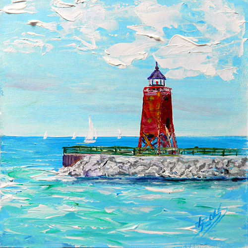 A Sunny Day in Charlevoix Painting available as Prints • Note Cards • Magnets
