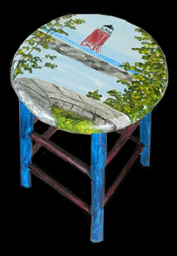 The Charlevoix Lighthouse Stool - Functional Fine Art for Your Home