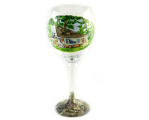 The Half House on Park Avenue Wine Glass - Hand Wash Only