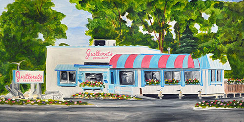 Juilleret's Restaurant of Charlevoix Painting available as Prints • Note Cards • Magnets