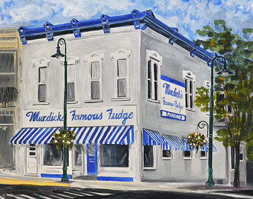Murdick's Famous Fudge of Charlevoix Painting available as Prints & Note Cards