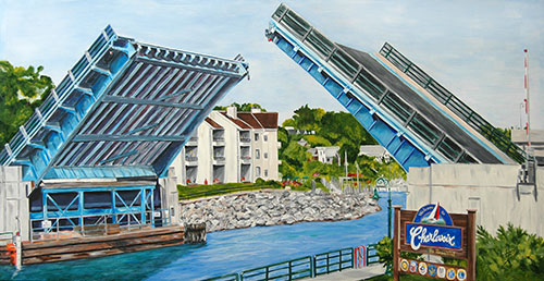 Welcome to Charlevoix! Painting available as Prints • Note Cards • Magnets