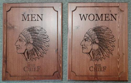 V-carved Signs - Custom