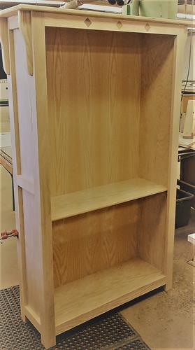 Oak with Walnut Inlay Bookcase