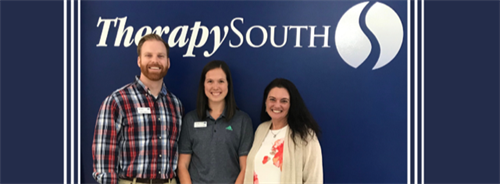 Staff member: Scott Jordan, Clinic Director/ Physical Therapist; Kayla Farmer, Physical Therapist Assistant; Tammy Smith, Office Coordinator