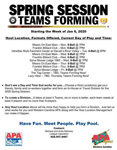 Spring Session Teams Forming