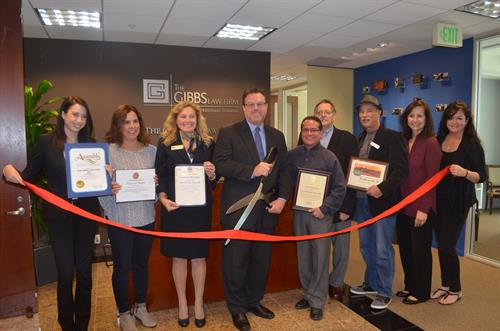 Ribbon Cutting for New Office