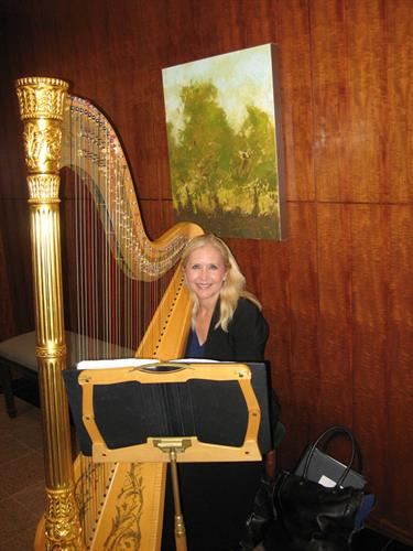 Harpist in the Lobby