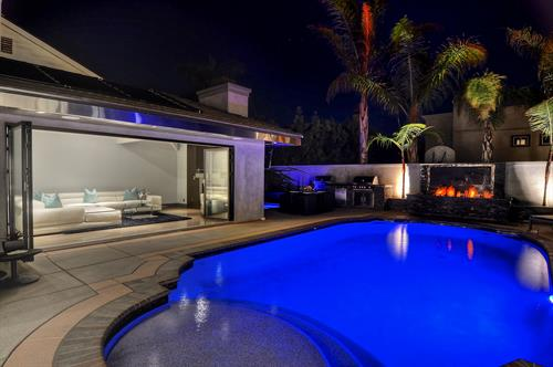 Seascape: this furnished San Clemente home features a private patio with pool.