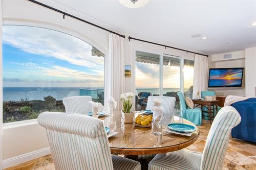 The Bluff: San Clemente rental view from living and dining room.