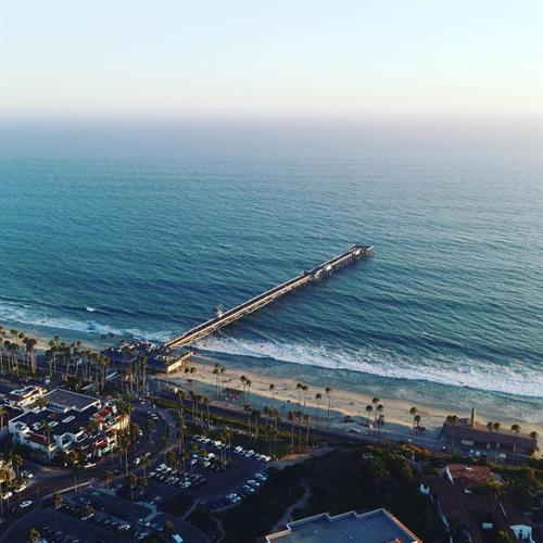 Drone photo of the San Clemente Pier