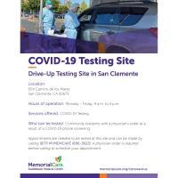 San Clemente COVID-19 Testing Site