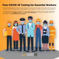 Orange County Health Agency - Free Covid-19 Testing for Essential Workers