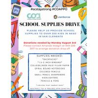 COA School Supplies Drive
