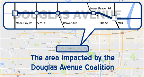 Area impacted by the Douglas Avenue Coalition