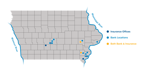 Serving you from these Iowa neighborhoods.