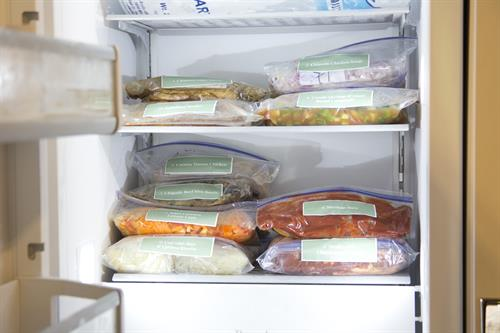 Most meals are made for the freezer to have a dinner on hand all the time!