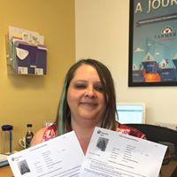 Our CSR, Katie Stine, passed her P & C exams!