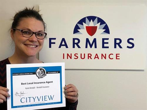 I won Runner Up for Best Local Insurance Agency in Des Moines in 2017!