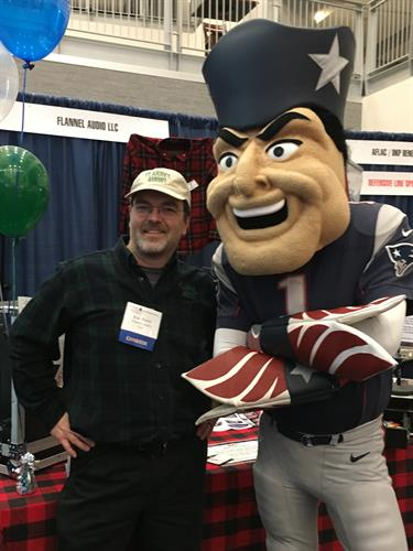 Pat Patriot with Flannel Audio's Ken Porter