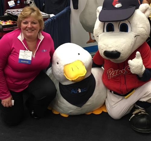 Paws, Diane, and the Aflac Duck!