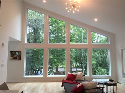 Minimalist clear window tint greatly reduces heat and solar glare, helps with fade reduction too.