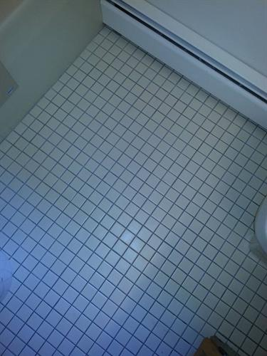 A much safer bathroom floor for the elderly parent