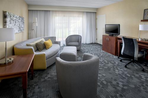 Each of our newly renovated suites is designed for comfort and convenience and feature separate living and sleeping areas complete with free high-speed Wi-Fi and modern decor.