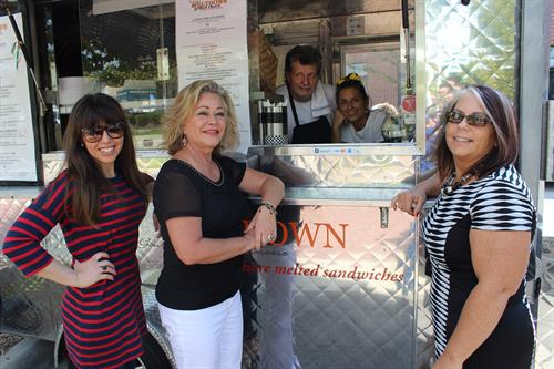 Visiting our T-Town small business owner customers for their famous grill cheese at MELTDOWN