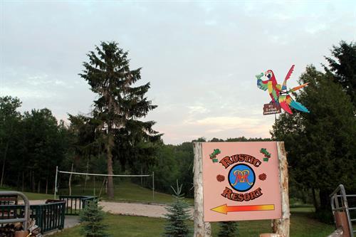 Motel entrance sign