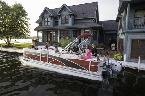 Picture this Sweetwater Premium pontoon in front of your house