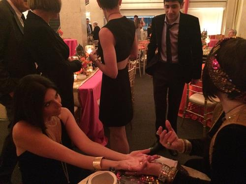 #BatMitzvah with rose-water infused palm readings on hand(y)kerchiefs - The Venetian Atlanta