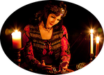 Naja Elieva as traditional Fortune Teller