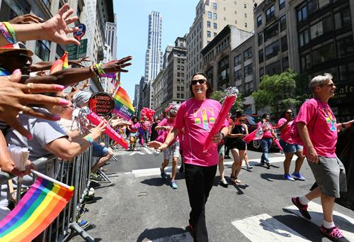 T-Mobile CEO, John Legere participating in the pride parade