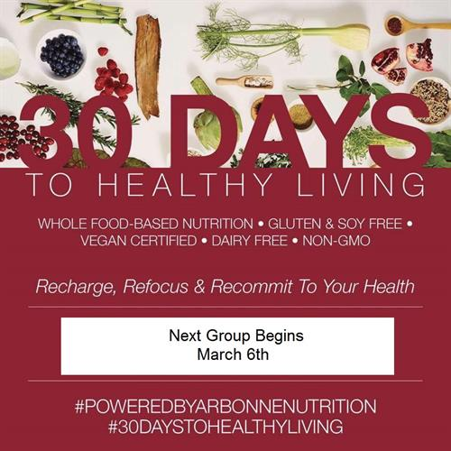 Join us for our next 30 Days to Healthier Living and Beyond!