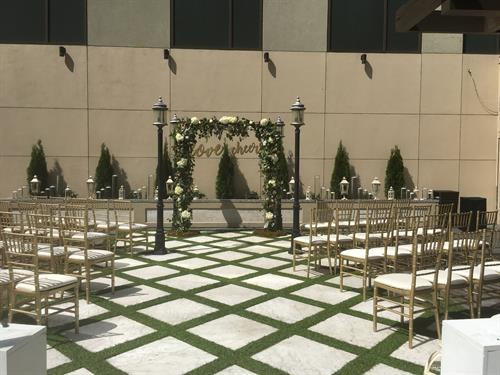 Wedding Ceremony on the Roof Top
