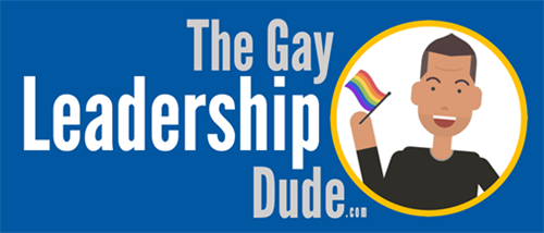"Logo for ""The Gay Leadership Dude"""
