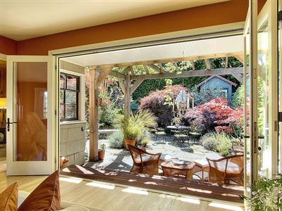 French doors bring the outside, in