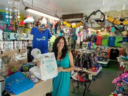 Flagler Beach Gift Shop in Florida & owner, Michelle Brown. 386-439-0053