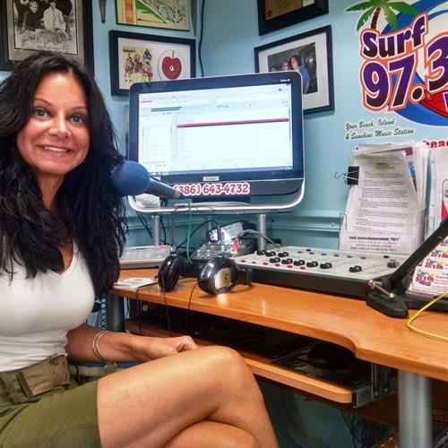 Michelle Brown, Owner of Flagler Beach Gift Shop and SURF 97.3 FM radio host for Flagler Splash.